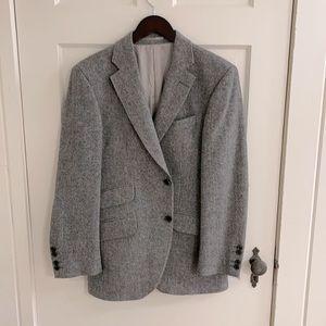 Hacket London Grey Wool Men's Blazer